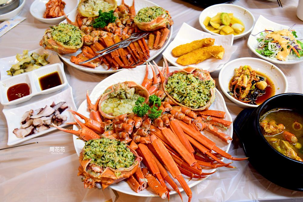 【韓國食記】束草紅螃蟹 新鮮好吃又便宜的松葉蟹大餐!滿滿蟹腳有夠過癮! @周花花,甲飽沒