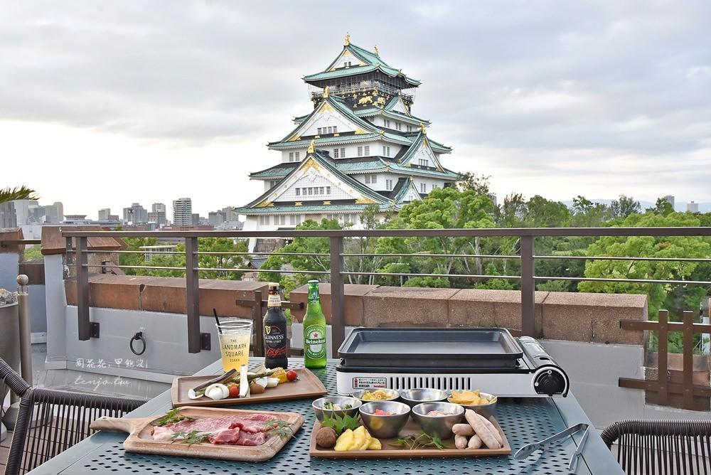 【大阪美食】BLUE BIRDS ROOF TOP TERRACE 大阪城天守閣就在眼前!燒肉吃到飽餐廳 @周花花,甲飽沒