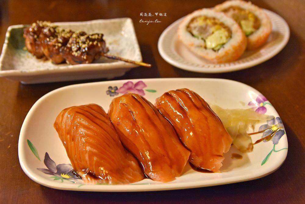 【西門町美食】三味食堂 巨無霸鮭魚握壽司cp值超高!韓國人排隊也要吃的日本料理 @周花花,甲飽沒