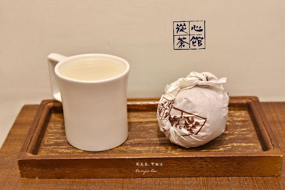 【萬華西門町美食】從心茶館 守舊時尚中式早午餐!好吃素食飯糰、包子饅頭、鍋煮奶茶 @周花花,甲飽沒