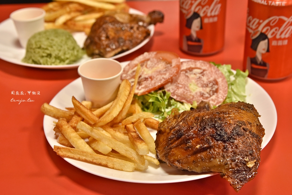 【古亭牯嶺街美食】秘魯烤雞Polleria 48小時香料醃製!秘魯主廚炭烤正宗家鄉味 @周花花,甲飽沒