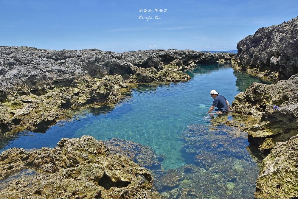 【蘭嶼景點】朗島秘境 私心最推薦的蘭嶼戲水浮潛點!蔚藍海水小丑魚清晰可見 @周花花,甲飽沒