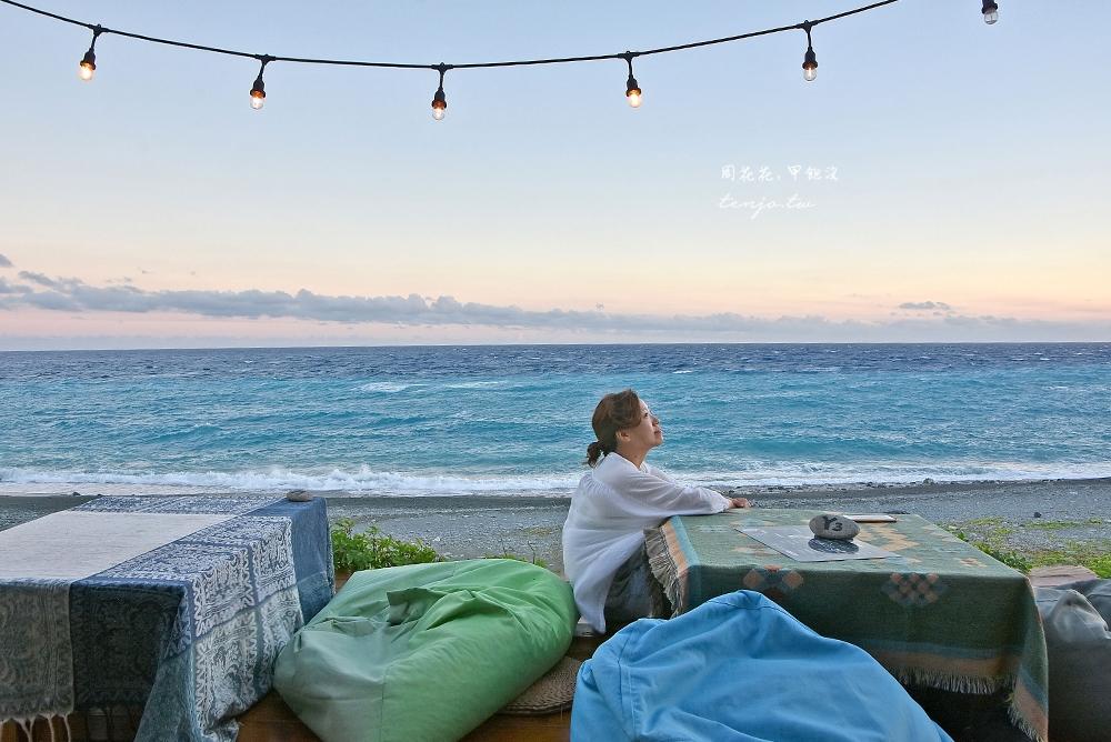 【蘭嶼美食酒吧】蘭嶼旅人·Rover 海景療癒系餐廳坐擁夕陽星空!ig拍照人氣景點 @周花花,甲飽沒