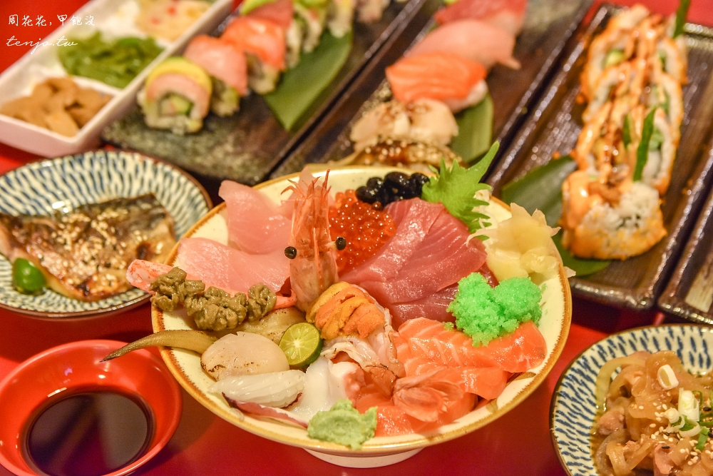 【板橋日本料理】八八食堂 菜單平價份量足!漁港直送新鮮生魚片,壽司卷、定食都好吃 @周花花,甲飽沒